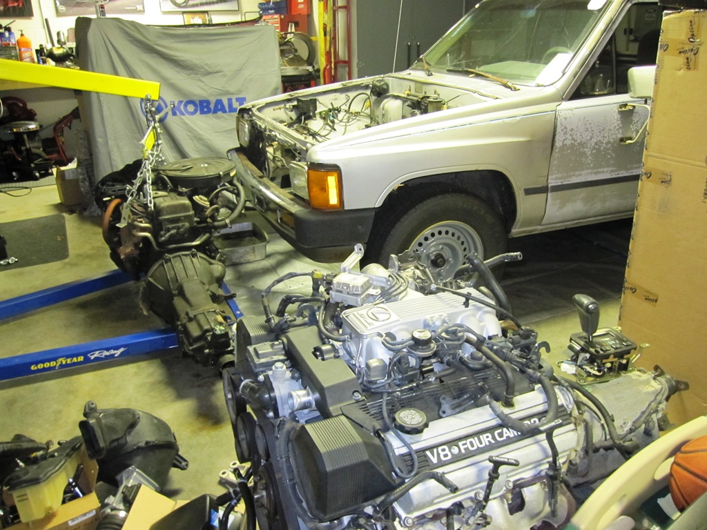 pictures 84 toyota pickup engine swap